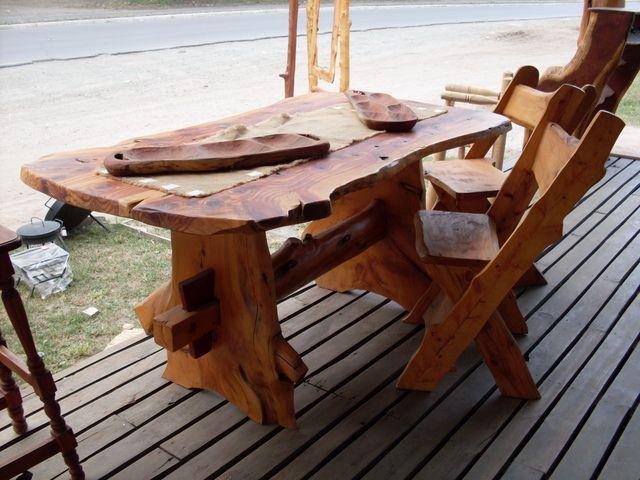 Típicos muebles para ambientación de estilo rústico