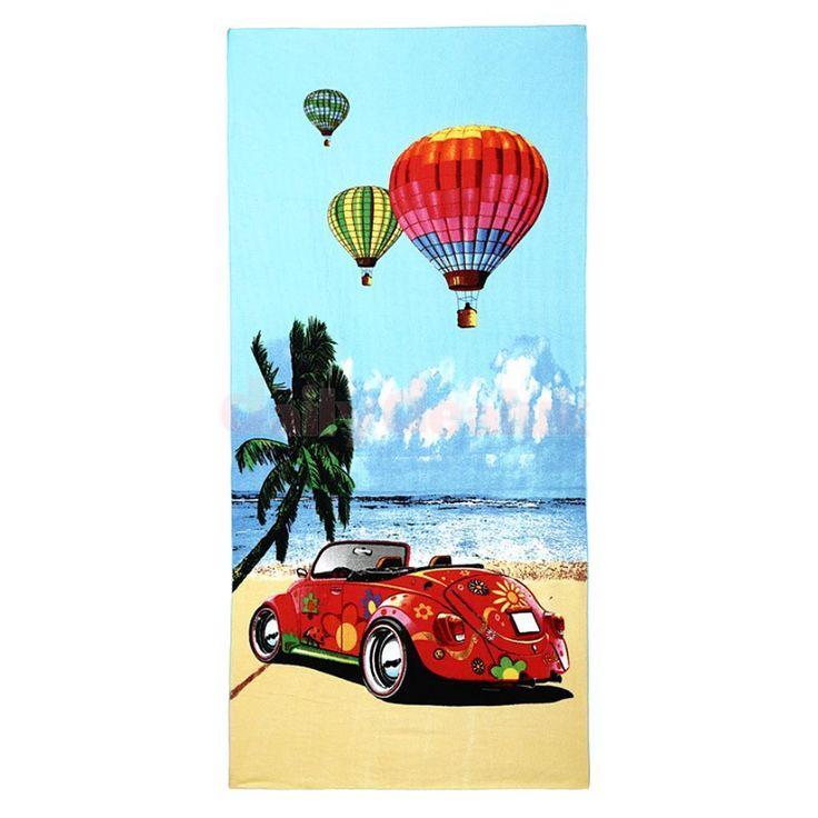 Pattern Printed Towel Travel Beach Swim Gym Bath Towel Washcloth 70X150Cm 1#