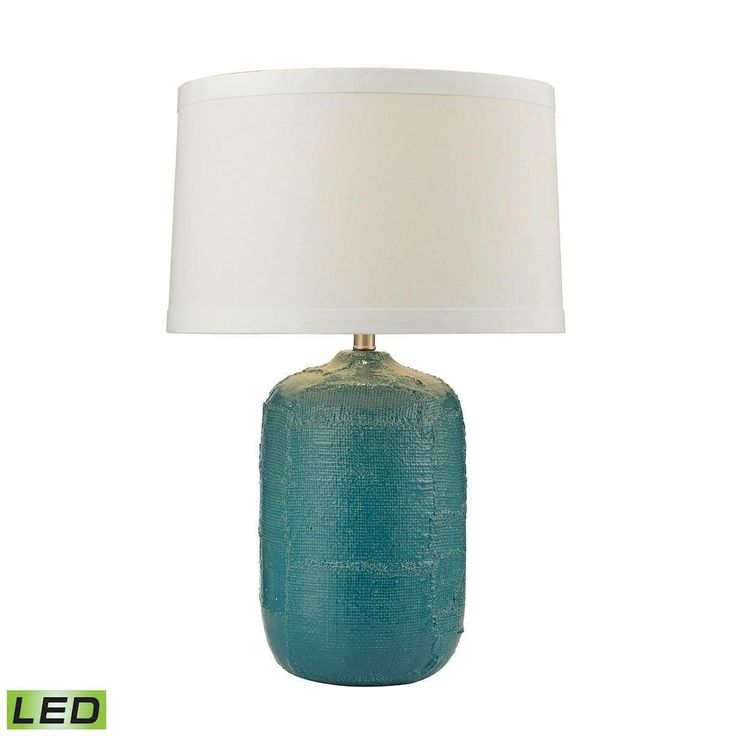 PatChwork Ceramic LED Table Lamp In Mediterranean Blue Finish by Dimond Lighting