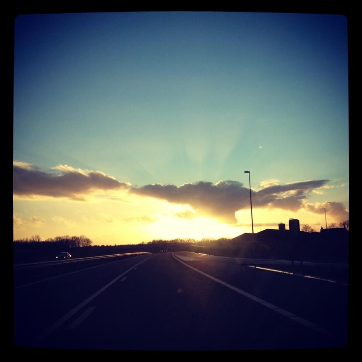 Mooie lucht boven Tilburg, 01-01-2012