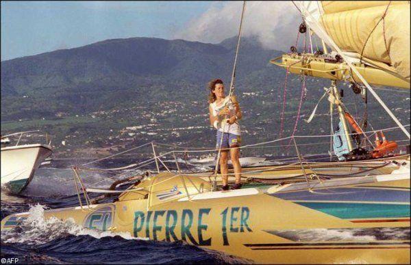 Florence Arthaud et Pierre 1er , elle a gagné la Route du Rhum en 1990 .
