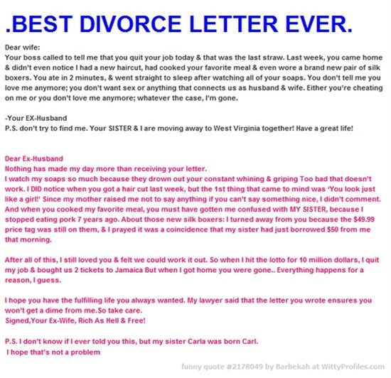 Good reasons to divorce your husband