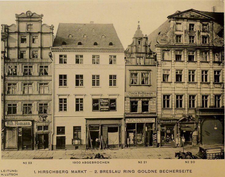 Południowa strona Rynku i kamienice 20-23. 1890-1900 r.