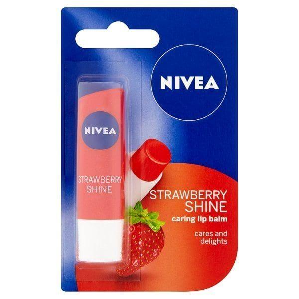 Nivea Lip Fruity Shine Strawberry 4 8g Superdrug Lip Balm