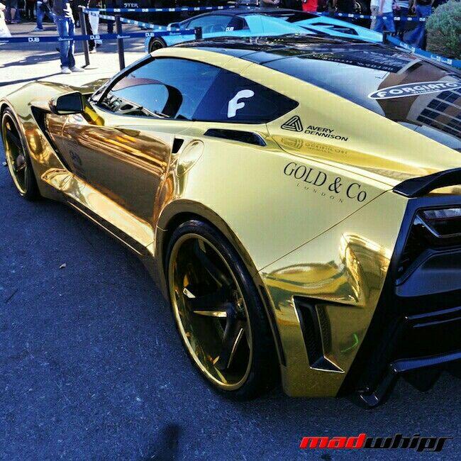 Gold Chrome Chevrolet Stingray