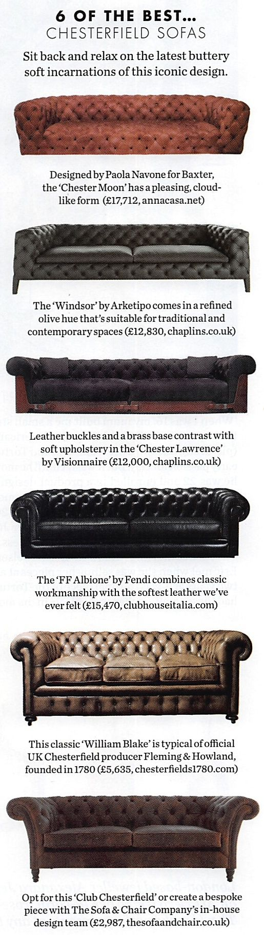 Chesterfield sofas                                                       …