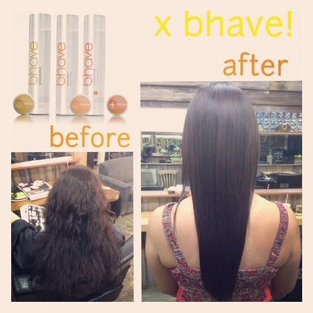 Awesome before/after pics of bhave smoothe PLUS therapy! #bhave #hair #keratin #straight #frizzy #beforeafter #transform #smooth #straighthair #frizzyhair