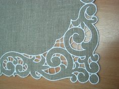 Gorgeous Vintage Linen and Lace Tray Cloth by Jenneliserose, $18.00 - Google…