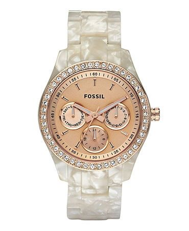 Fossil women's watch. Love the mother of pearl band!
