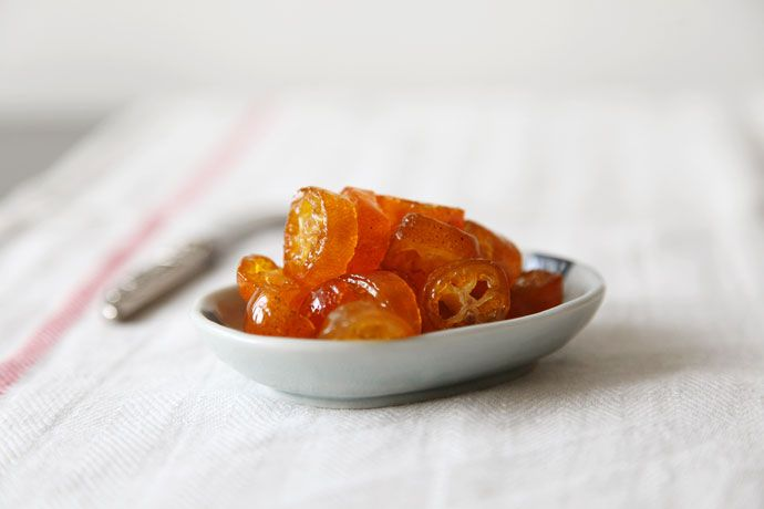 Candied Kumquats - good idea for the next time kumquats are on sale