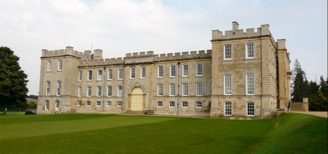 Kimbolton Castle, Kimbolton, Cambridgeshire. Best known as the final home of King Henry VIII's first queen, Catherine of Aragon. Now houses Kimbolton School.