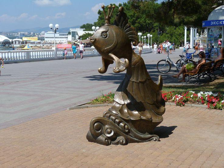 """Памятник """"Золотая рыбка"""" Геленджик"""