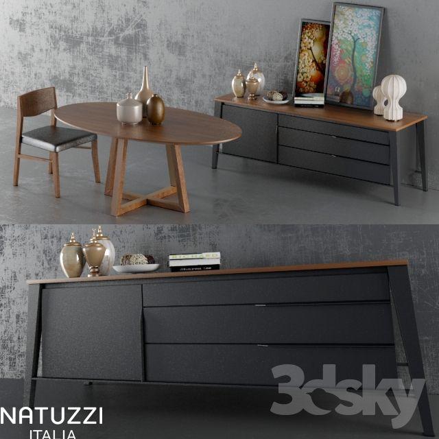 Wardrobe + table + chairs (Natuzzi set)