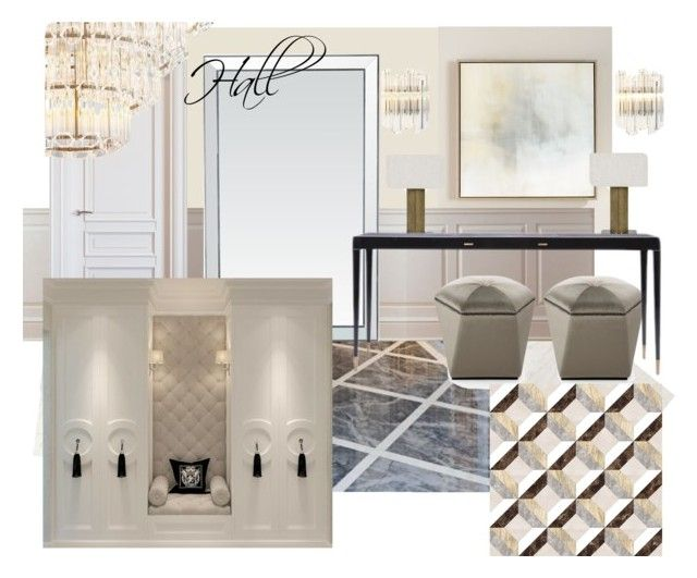 hall 2 zr by naala-art on Polyvore featuring interior,