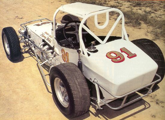 """In 1968, Kenny Weld went East with this beautiful car of his own design. The car won """"between 30 or 40 races"""", according to Lynn Paxton as told to Open Wheel Magazine writer Jim Donnelly. The restored car was finished by Paxton who used to race against Weld at Williams Grove and Port Royal. (Scanned from OW, October 1989 - Holtsman Family collection).: Race Cars, Track Vintage Sprints, Open Wheeled, Racing Cars, Favorite Racecars, Sprint Cars, Wheeled Racing, Dirt Track Vintage, Dirt Racecars"""