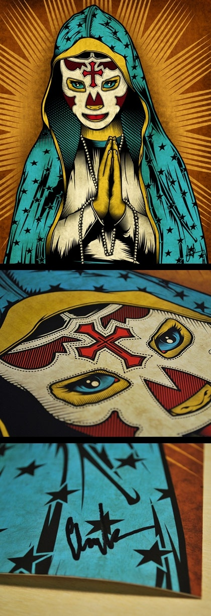 Our Lady Of Lucha Libre by Pale Horse