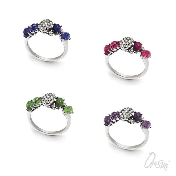 Riscopri il colore con la luminosità delle gemme colorate #semipreciousstones #colouredgemstones #italianjewelry
