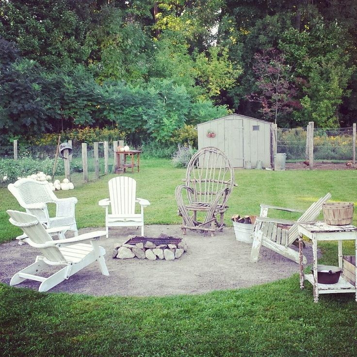 Rustic Farmhouse: (previous farmhouse) - if we had anywhere flat in the yard