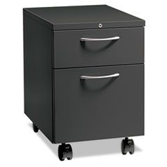 * Flagship Mobile Box/File Pedestal, Arch Pull, 22-7/8 Deep, Charcoal  #MotivationUSA #Home