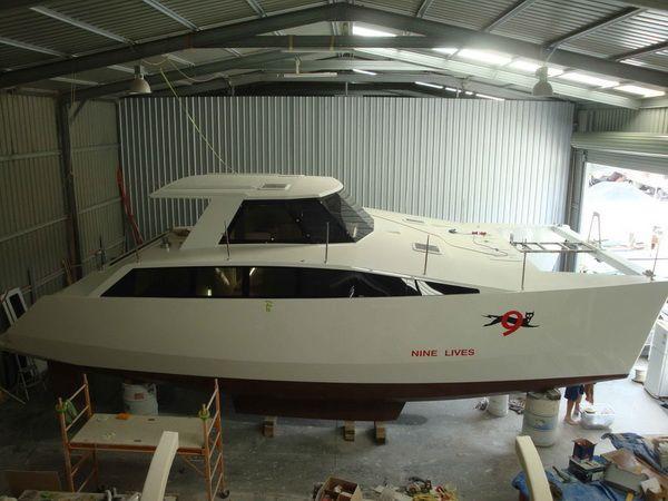 Waller 1100 Catamaran | Boats | Pinterest | Catamaran, Power catamaran and Boat plans