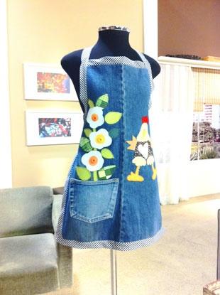 Arte e Mil Idéias...: Jeans na Decor