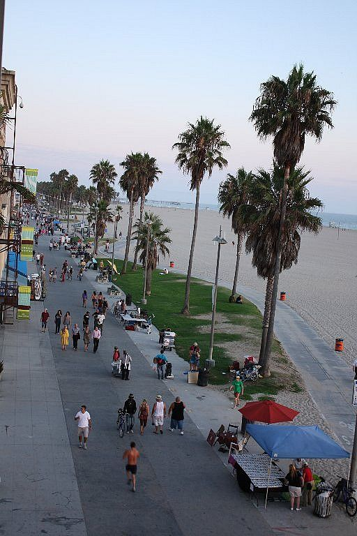 Boardwalk in venice beach california west los angeles area