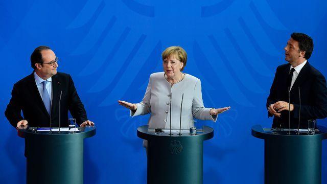 Mini-sommet Merkel-Hollande-Renzi en Méditerranée pour relancer l'UE