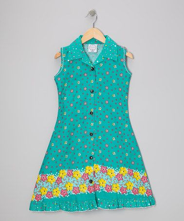 Take a look at this Green Floral Mod Sundress - Infant, Toddler & Girls by Vintage Circus on #zulily today!