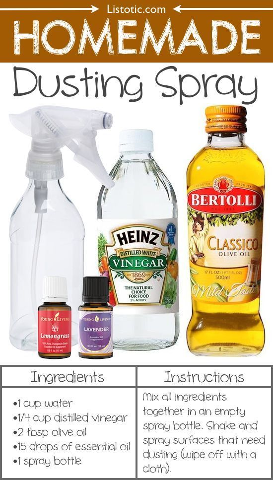 #18. Homemade Dusting Spray -- 22 Everyday Products You Can Easily Make From Home (for less!) These are all so much healthier, too! working from home, work from home, #workfromhome