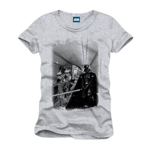 Star Wars – camiseta de Darth Vader y Tropas de Asalto en el metro – con logotip…