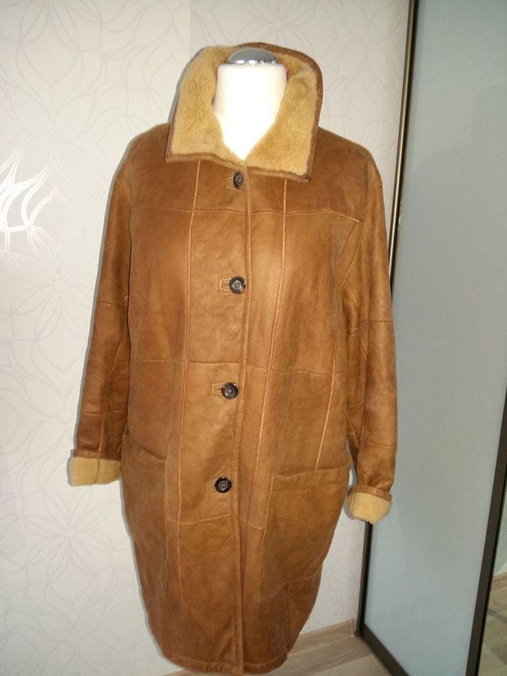 CHRIST Shearling Sheepskin Leather Fur Coat Jacket  LAMMFELL Mantel XL  EU 42 #CHRIST #FurCoat