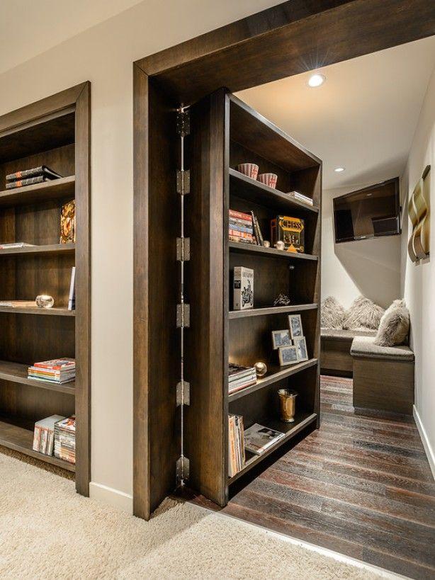 Wat een leuk idee: een verborgen kamer :)