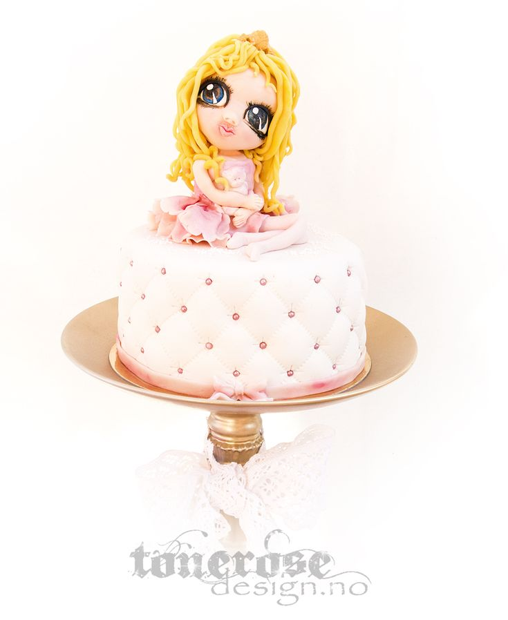 Princess cake, girl made with marzipan