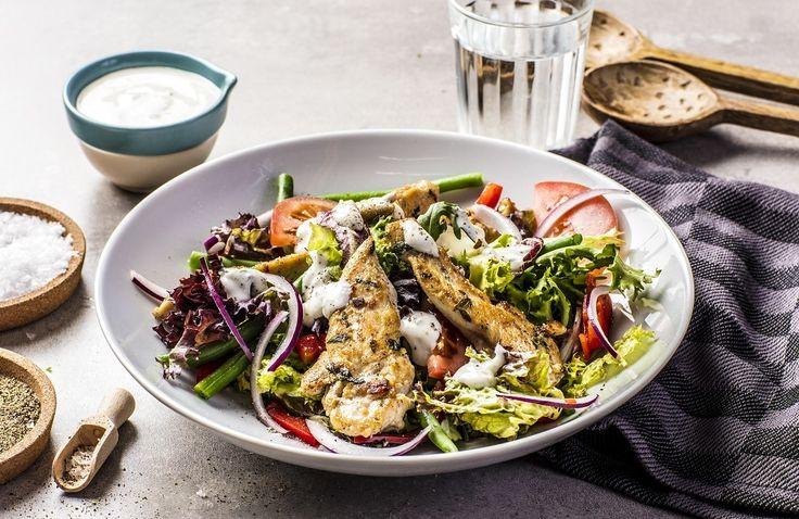 Salat med kylling, asparges og timianyoghurt | www.greteroede.no | Oppskrifter | www.greteroede.no
