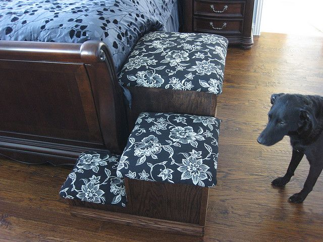 Dog Ramp For Bed >> Corner Stairs … | pups | Dog s…