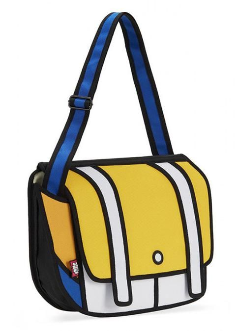 This bag from Japanese brand, Jump From Paper is one of many functional styles that look exactly like they well... jumped from the pages of your weekend newspaper cartoons