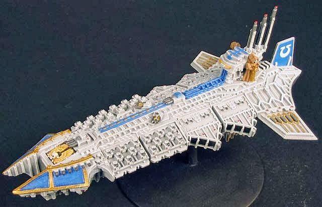 Ultramarines Dispoiler-Class Venerable Battlebarge.