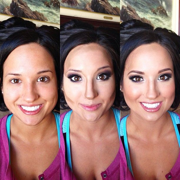 Contouring and highlighting done right - oh the power of make up !