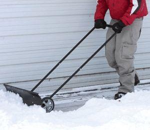 Wheeled Snow Shovel Pusher - Electric Snow Shovel with Wheels
