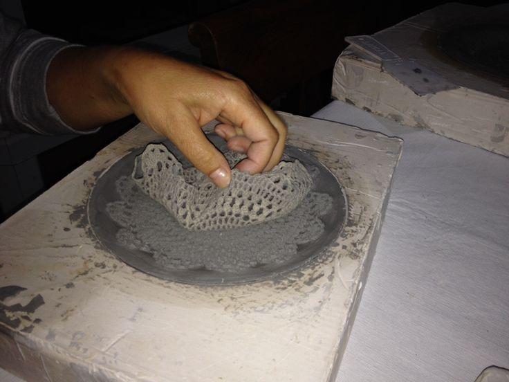 Pasta americana de Vaciado Diseño de paño tejido a crochet
