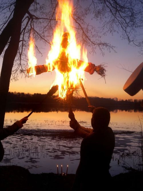 The tradition of burning or drowning an effigy of Marzanna/Morana to celebrate the end of winter is a folk custom that survives mostly among West Slavs.