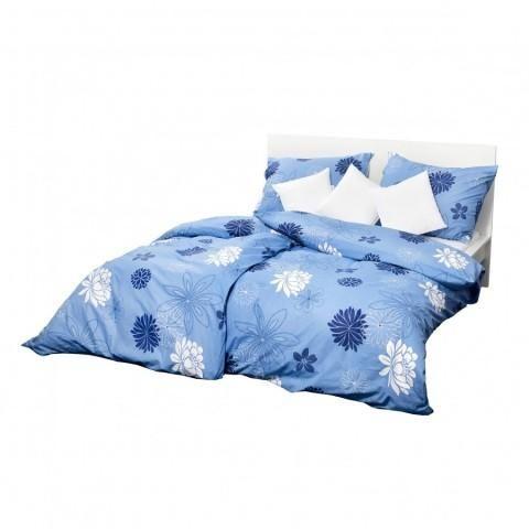 Holey Quilt® Bavlnená obliečka Nashira blue 140x200,70x90