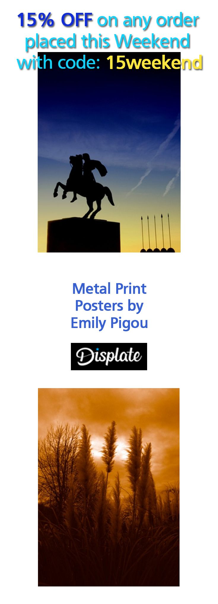 Emily Pigou Photography on Metal Prints. 15% OFF on any order placed this Weekend with code -----> 15weekend.   #discount #save #sales #weekendsales #displate #photography #AlexandertheGreat #MacedonianKing #Greece #Thessaloniki #Travel #statue #homedecor #Greek #homegifts #poster #modernhome #gifts #giftsforhim #giftsforher