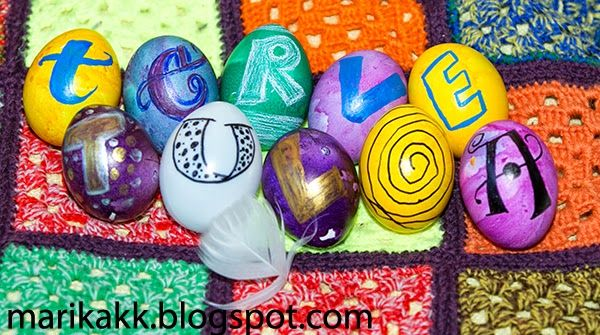 Easter Eggs with #lettering