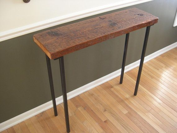 This Rustic Barnwood Console Table Is An Eye Catching And Functional  Piece.It May Be