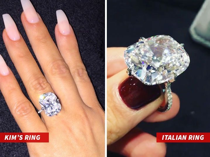 Kim Kardashian West S Stolen Ring Not So Unique Similar Massive Stone Surfaces Phot Kim Kardashian Engagement Ring Wedding Ring Finger Gorgeous Wedding Rings
