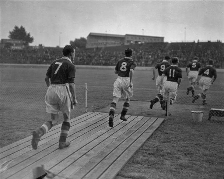 14th August 1939: Chelsea Football Club hold their fist pre-season practice match at Stamford Bridge