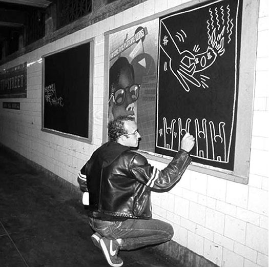 Keith Haring, Subway Chalk Drawing | ArT LoVeR | Pinterest