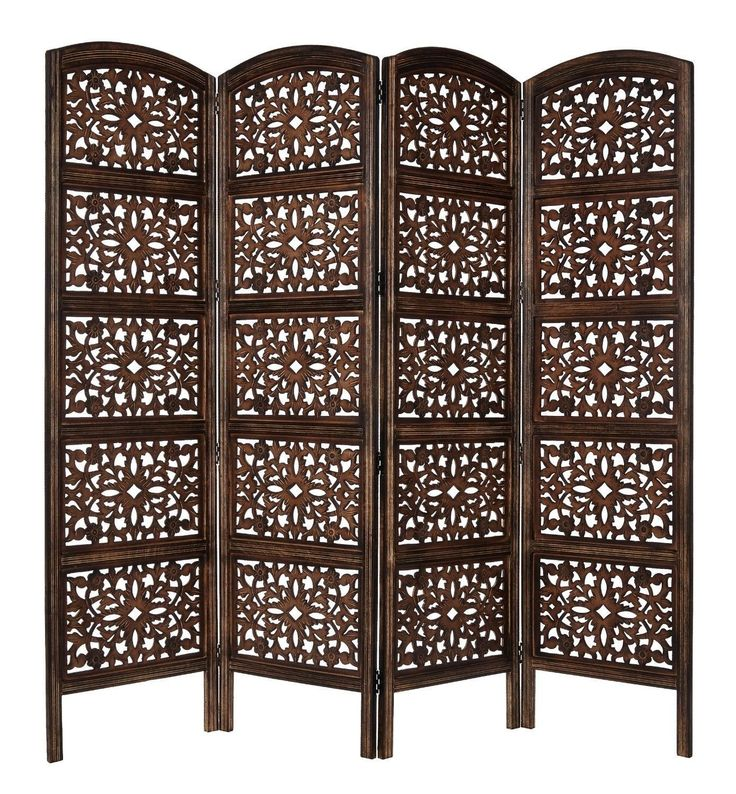 room divider partition rustic living dining handcraft 4 panel wooden home decor screens room