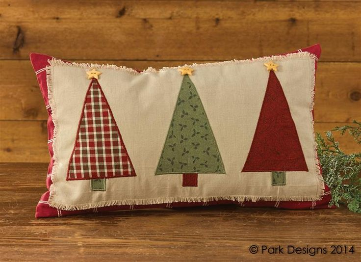 "Christmas Tree Applique Pillow 12"" x 20"""